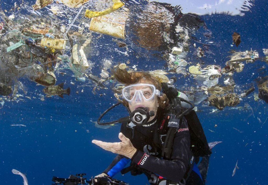 Dr. Sylvia Earle, 84, of Dunedin, is leading a worldwide effort to save the oceans through the organization she founded, Mission Blue. Here she surveys marine plastic pollution off of Cocos Island in the Pacific.