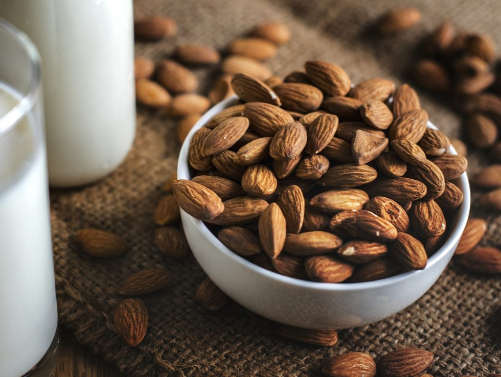 Eating a from a small bowl of nuts can help reduce your stress.