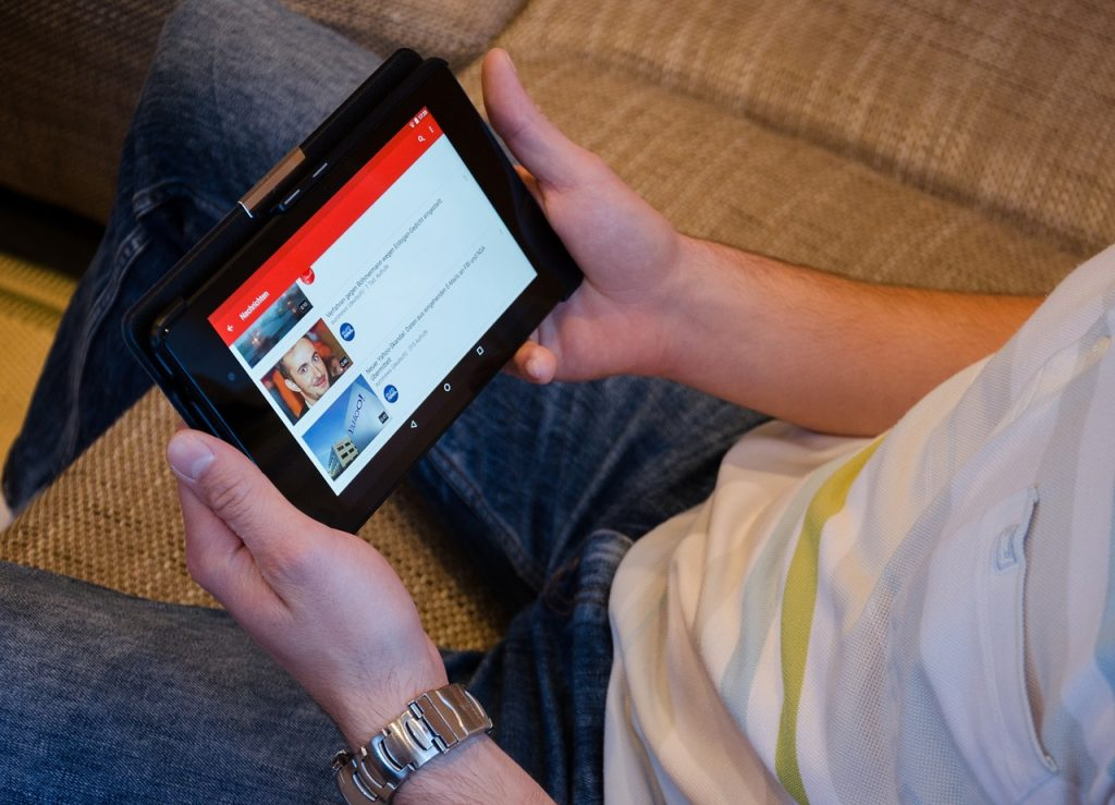 Keeping up with a news on your devices, such as this tablet here, can contribute to your rising stress levels.