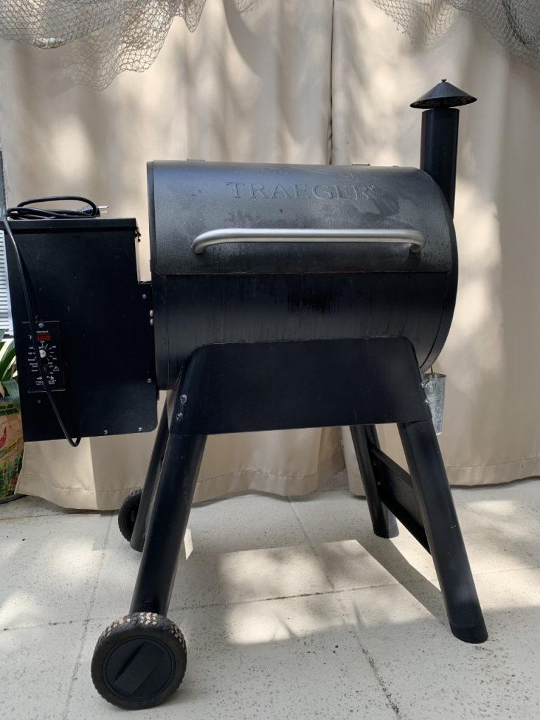 Traeger Grills offer the perk of setting the cooking temperature, closing the grill cover, and walking away until the food is cooked, with no fire flareups to worry about.