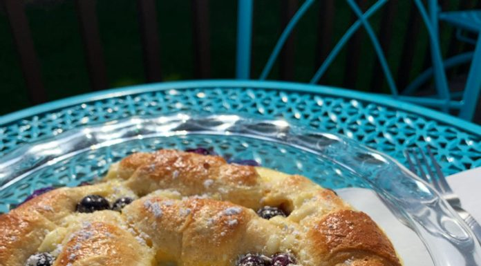 Recipe: Brunchy Blueberry Croissant Casserole
