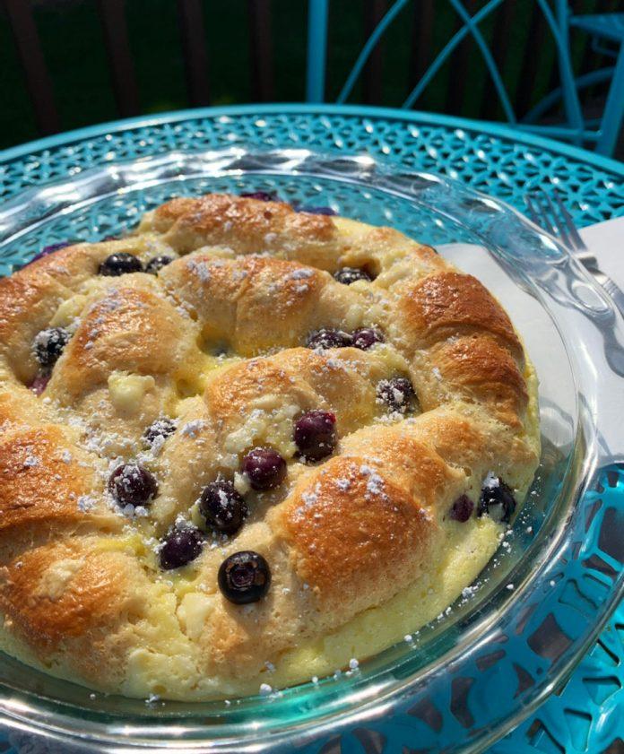 Recipe: Brunchy Blueberry Croissant Casserole