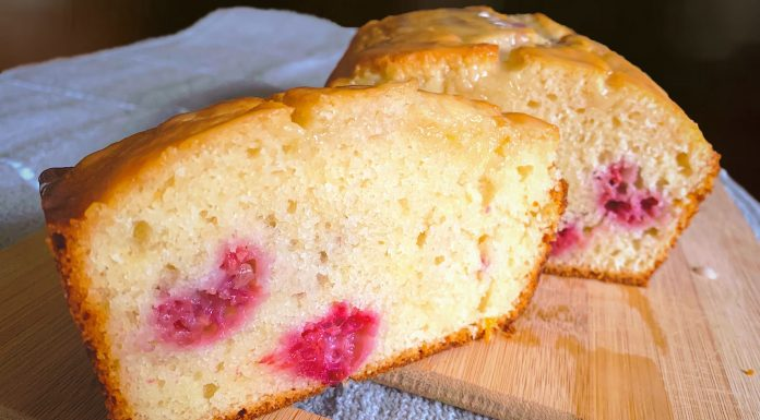 Recipe: Lemon Raspberry Cake Loaf