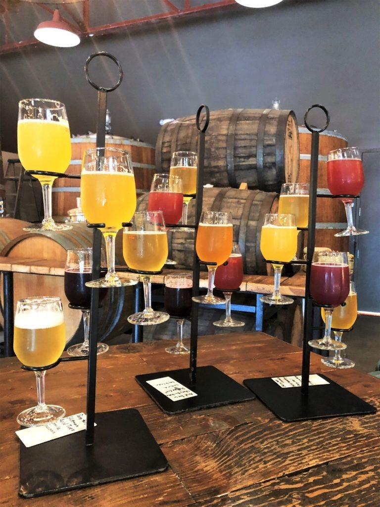 7venth Sun's Beer Flight presentation is nothing short of awesome. Image from Florida Travel Girl.