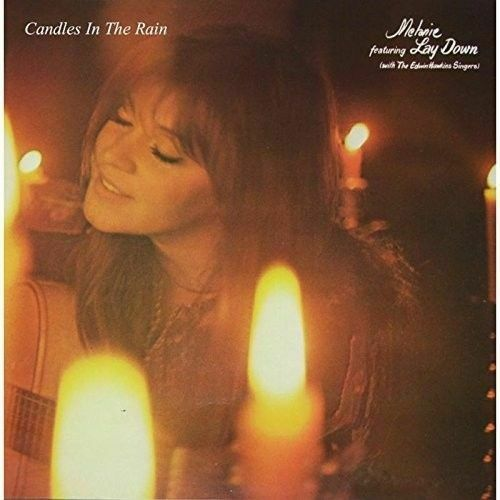 "The cover of Melanie's single, ""Candles in the Rain"""
