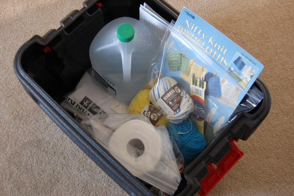 This example of a hurricane preparedness kit is from user Ashley P on Flickr.