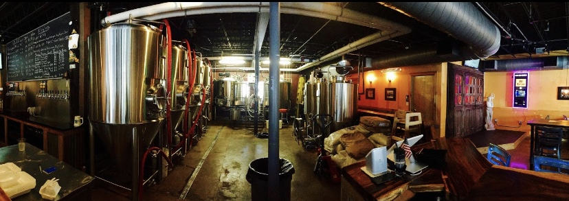 Panoramic view of Riptide's brew and fermentation room. Image courtesy of owner on Google reviews.