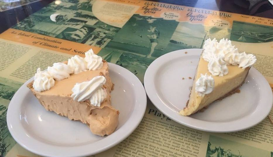 Pie slices from Trip's Diner