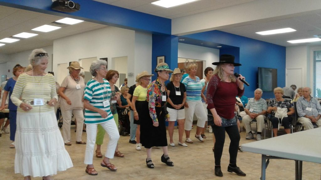 Socialization is an important part of maintaining one's independence. Image courtesy of Naples Senior Center.
