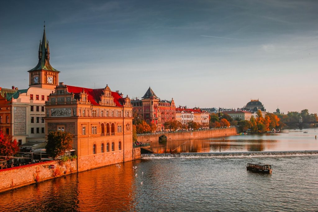 Czechia's classic architecture pairs well with their brilliant, warming sunsets and sunrises.