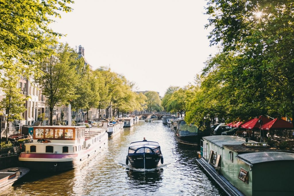 The canals of the Netherlands in themselves are a sight to see.