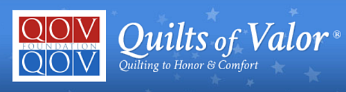 Quilts of Valor logo, image from The Quilted Crow