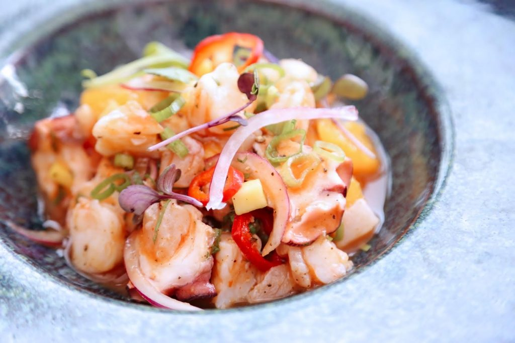 A cool, light seafood dish, The Bevy's octopus ceviche is a great dish for an adventurous diner.