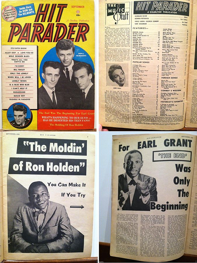 Hit Parader magazine readings in September 1960.