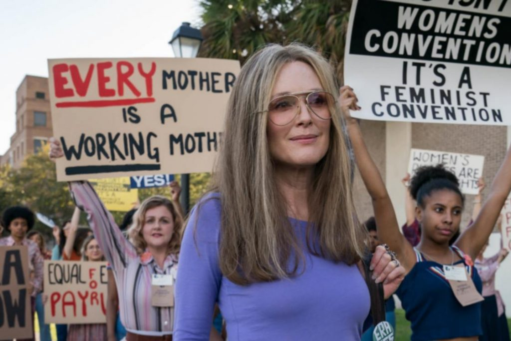 "Julianne Moore portrays Gloria Steinem in new movie ""The Glorias""."