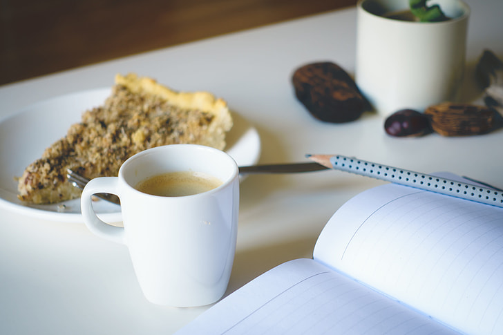 Journaling with a beverage or snack can be a great way to start the day, as well.
