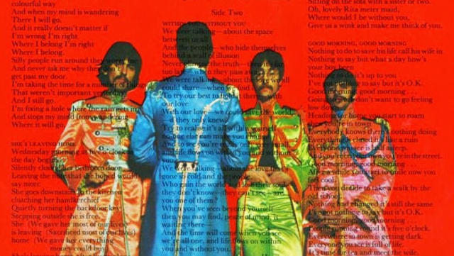 Sergeant Pepper's back cover. Image from cbsnews.com