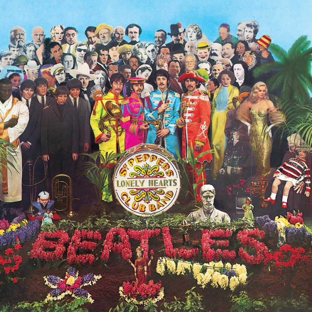 The original album cover for Sergeant Pepper's Lonely Hearts Club Band. Image from thebeatles.com