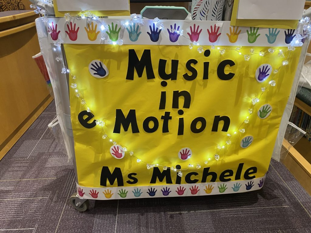 Traditional teaching is out the window this school year- say hello to the Music in Motion cart!