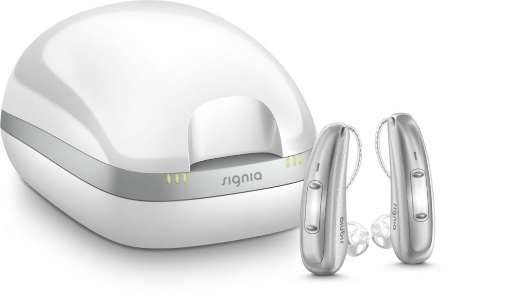 Signia rechargeable hearing aid