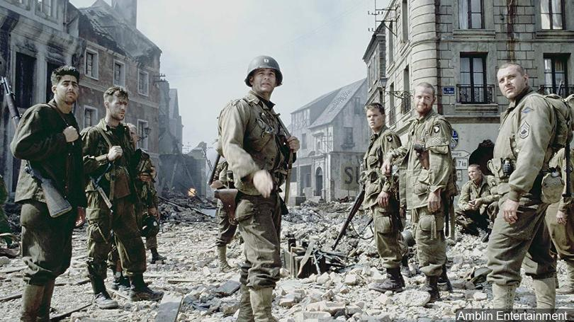 A great Veterans' Day movie to watch: Saving Private Ryan. Image from ConnectingVets.Radio.com