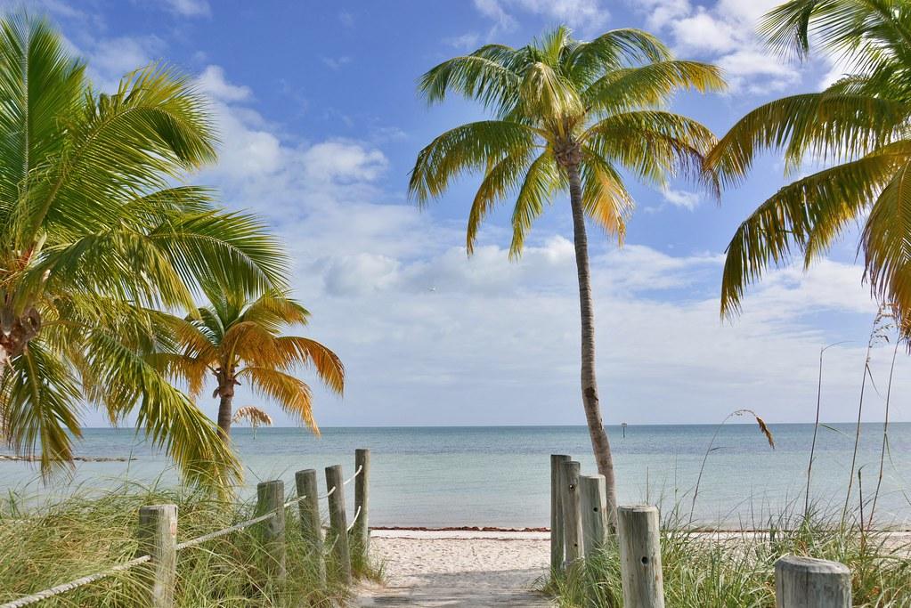 Smathers Beach at Key West: a snowbird's winter destination