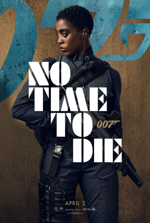 Movie poster featuring Nomi (Lashana Lynch). Image from Daily Mirror