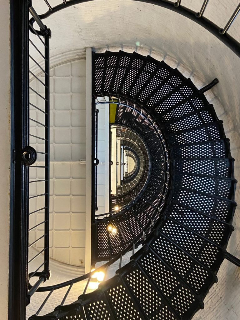 St. Augustine Lighthouse staircase, photographed by Paulette.