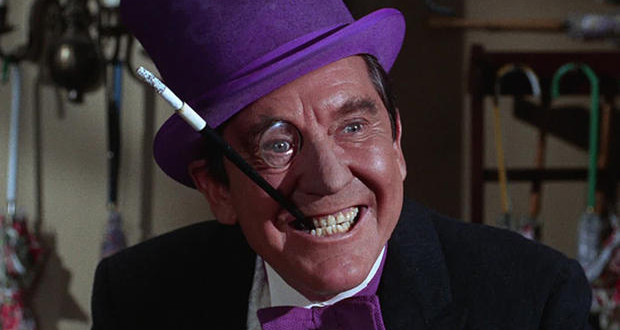 Burgess Meredith as The Penguin in Batman. Image from 13th Dimension.