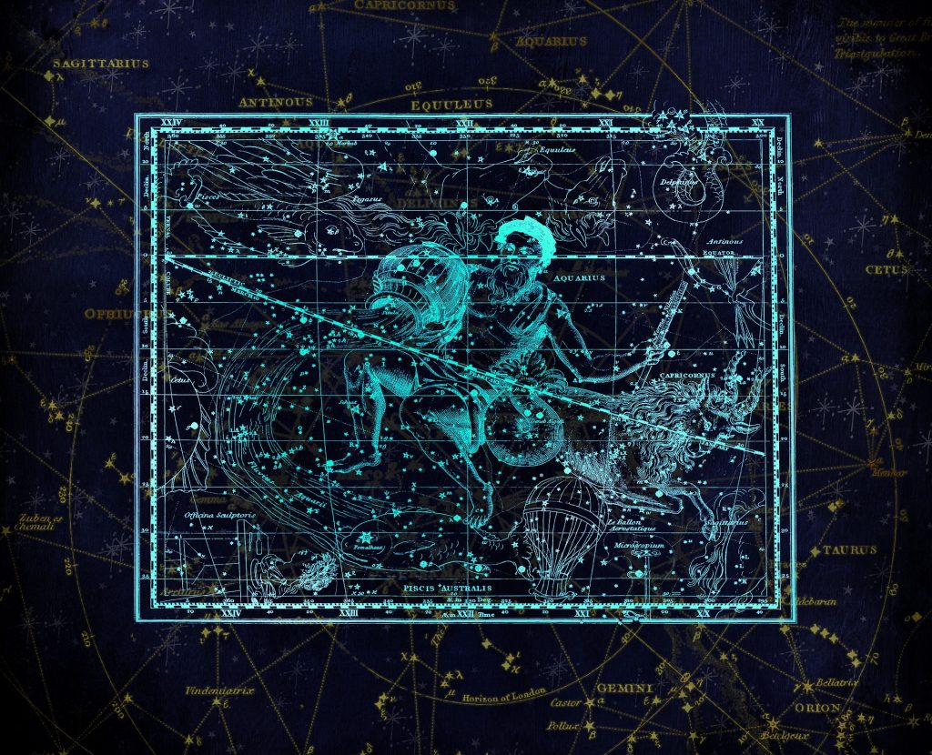 Astrological constellation of Aquarius. From Pixabay