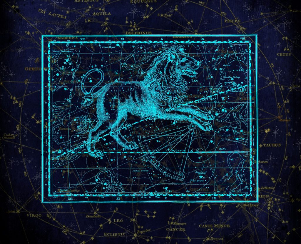 Astrological constellation of Leo. From Pixabay